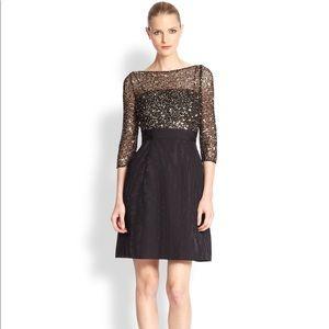 Kay Unger cocktail dress size 6 black